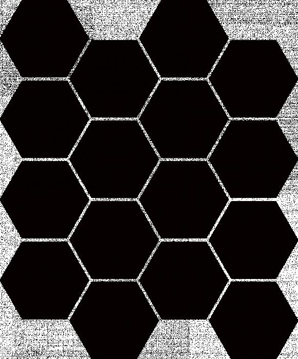 UNIVERSAL GLASS HEKSAGON NERO - фото 1